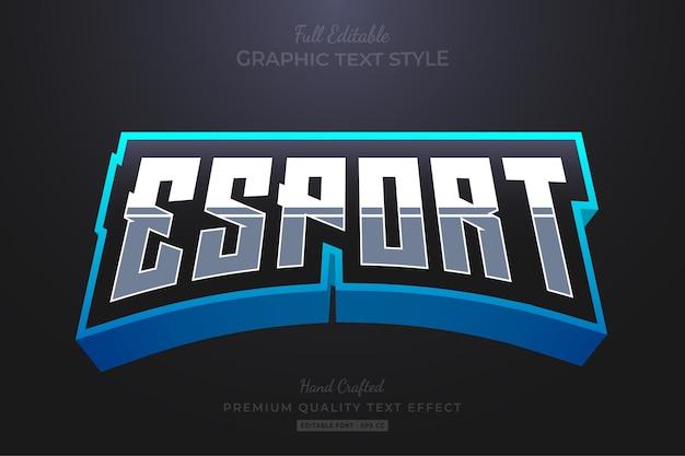Esport team blue bewerkbare teksteffect lettertypestijl