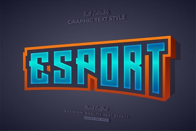 Esport team gaming 3d bewerkbare teksteffect lettertypestijl