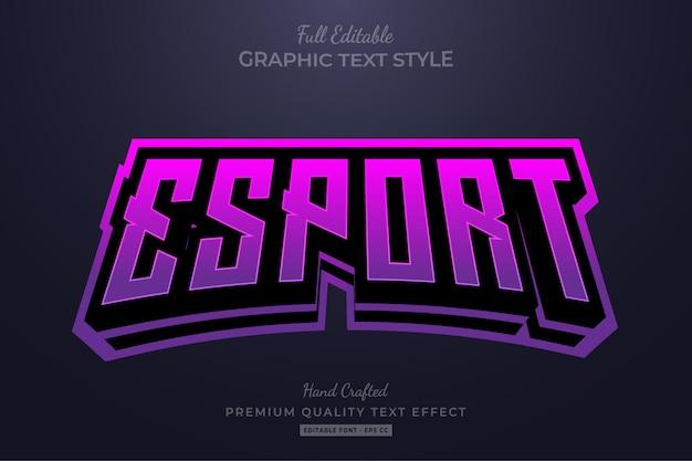 Esport team gradient bewerkbare teksteffect lettertypestijl