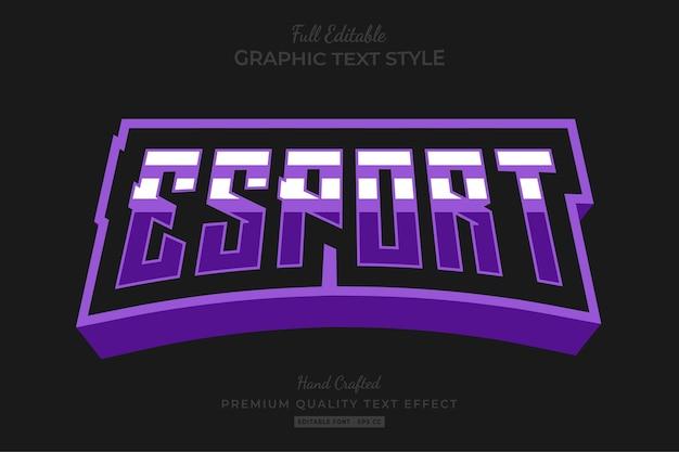Esport team stripped bewerkbare teksteffect lettertypestijl