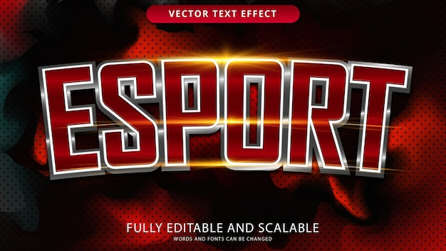 Esport teksteffect bewerkbaar eps-bestand