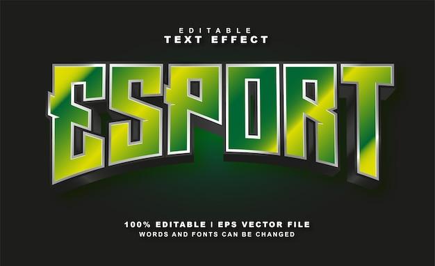 Esport teksteffect gratis eps vector