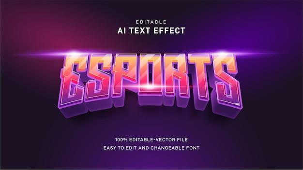 Esport-teksteffect