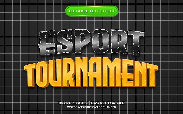 Esport-toernooi teksteffect sjabloonstijl