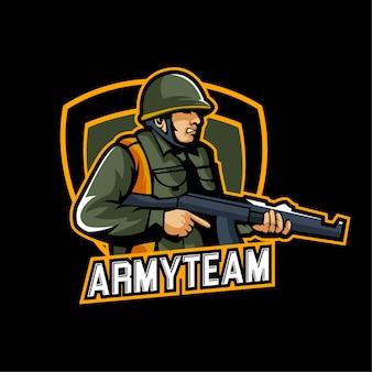 Esports gaming leger logo team militair