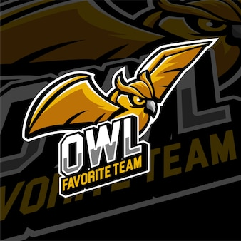 Esports gaming logo-badge uilen