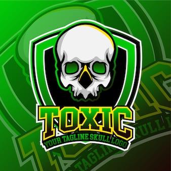 Esports gaming logo schedel thema