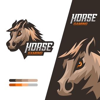 Esports gaming-logo voor paarden