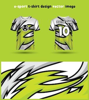 Esports gaming t-shirt jersey sjabloon Premium Vector