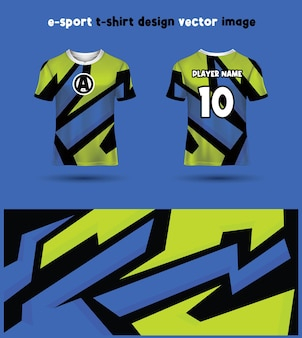 Esports gaming t-shirt jersey sjabloon