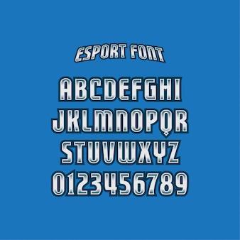 Esports lettertyp typografie