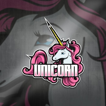 Esports mascot logo team unicorn squad