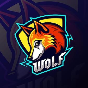 Esports wolf mascotte team logo