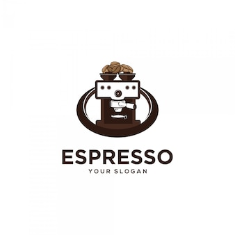Espresso koffiemachine logo illustraties
