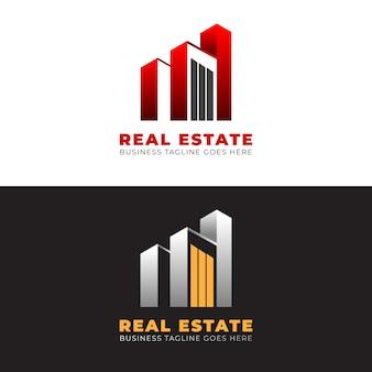 Estate logo sjabloonontwerp met moderne vormen