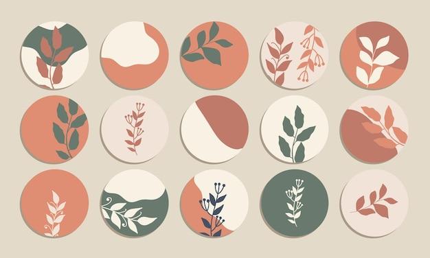 Esthetiek social media markeer cover vector collecties