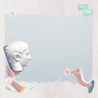 Esthetisch online datingframe blauw grieks godsbeeld
