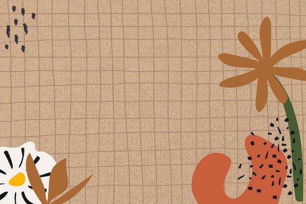 Esthetische bloem achtergrond rasterpatroon ontwerp ruimte vector