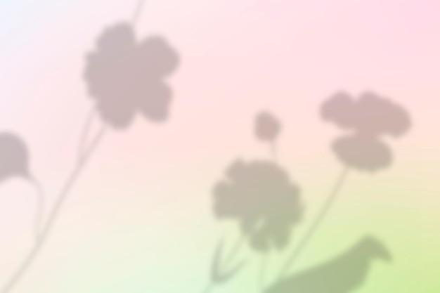 Esthetische bloem schaduw achtergrond vector in twee kleurverloop