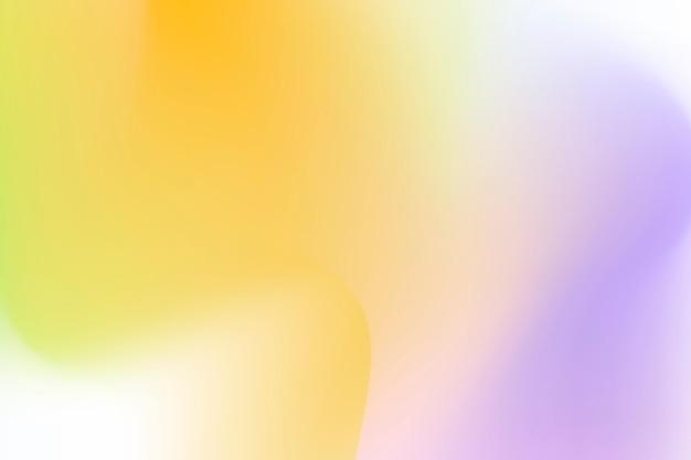 Esthetische golfgradiënt achtergrondvector met geel en paars