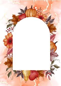 Esthetische herfst herfst bloemen frame achtergrond