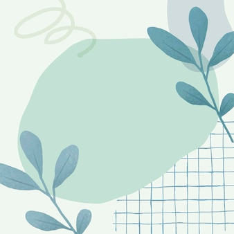 Esthetische pastel botanische abstracte achtergrond vector