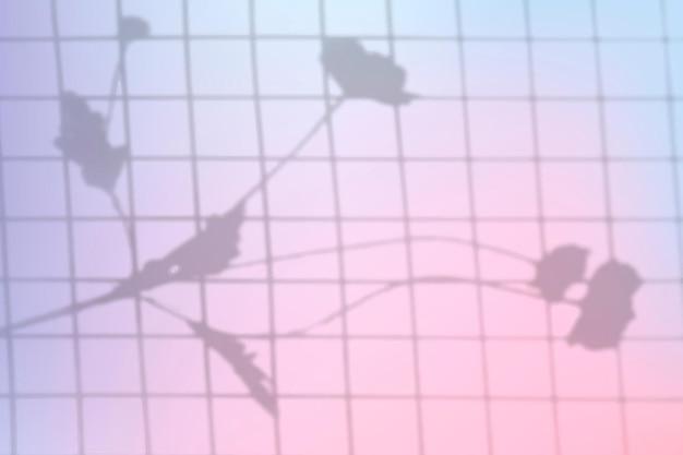 Esthetische pastel gradiënt achtergrond vector met bloemen schaduw