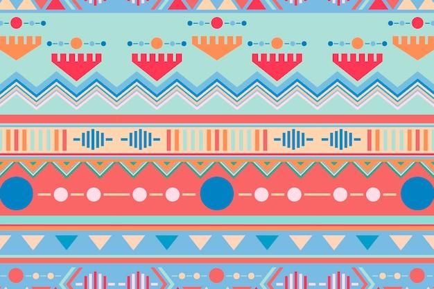 Esthetische tribale achtergrond, naadloze patroonvector, pastelstof