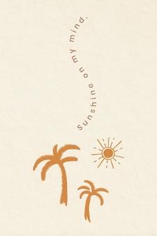 Esthetische vakantiethema-badges met positieve citaatillustratie