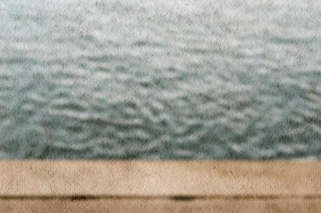 Esthetische watertextuur achtergrondvector met korreleffect