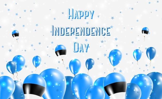 Estland onafhankelijkheidsdag patriottische design. ballonnen in estse nationale kleuren. happy independence day vector wenskaart.
