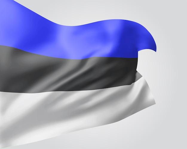 Estland, vector 3d vlag geïsoleerd op witte background