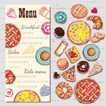Eten bovenaanzicht menu