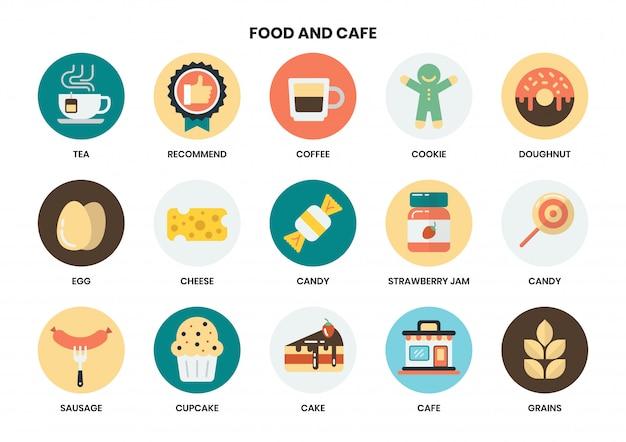 Eten en café pictogrammen instellen voor het bedrijfsleven