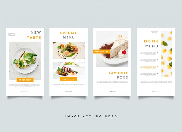 Eten en culinaire instagram verhalen promotie sjabloon