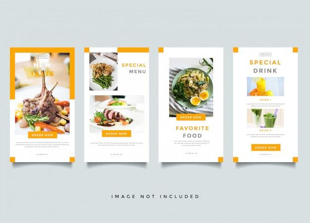 Eten en culinaire sjabloon voor spandoek