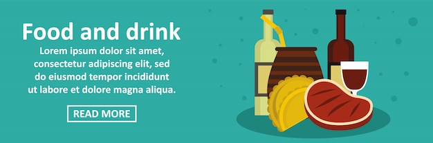 Eten en drinken argentinië banner horizontaal concept