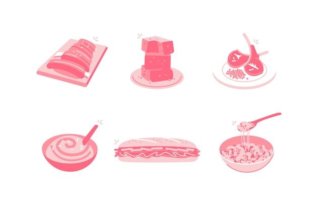 Eten en drinken illustratie