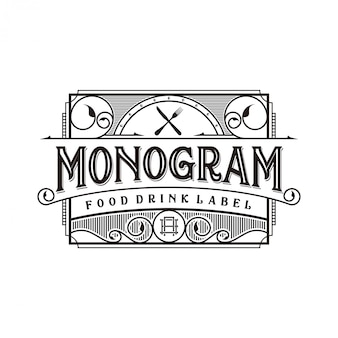 Eten en drinken logo-ontwerp voor merklabel