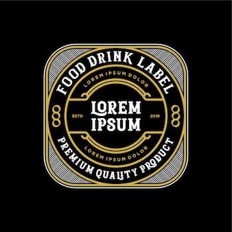 Eten en drinken logo-ontwerp voor product en restaurant