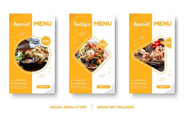 Eten menu banner social media verhaal.