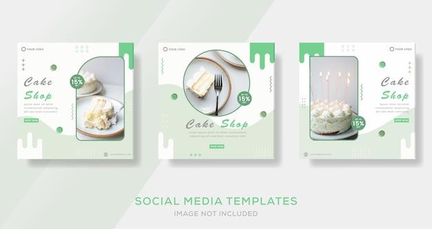 Eten menu banner verhalen post sjabloon voor sociale mediaremium vector