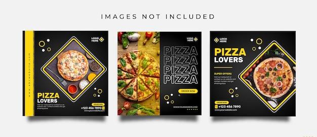 Eten social media post of promotionele banner ontwerpsjabloon