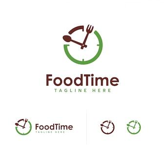 Eten tijd logo ontwerpsjabloon