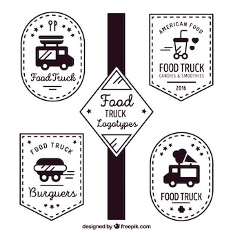 Eten truck vintage emblemen
