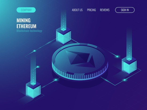 Ethereum crypto currency mining serverruimte, servicegegevenscentrum