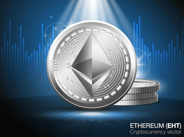 Ethereum cryptocurrency vector