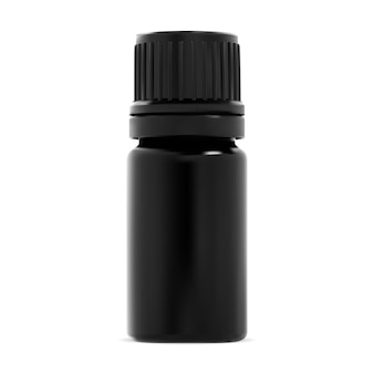 Etherische olie fles. kleine zwarte glazen fles