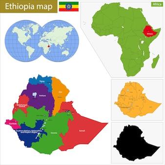 Ethiopië kaart