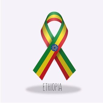 Ethiopië vlag lint ontwerp